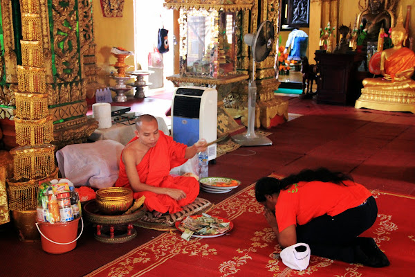 Interior of Wat Si Muang in Vientiane