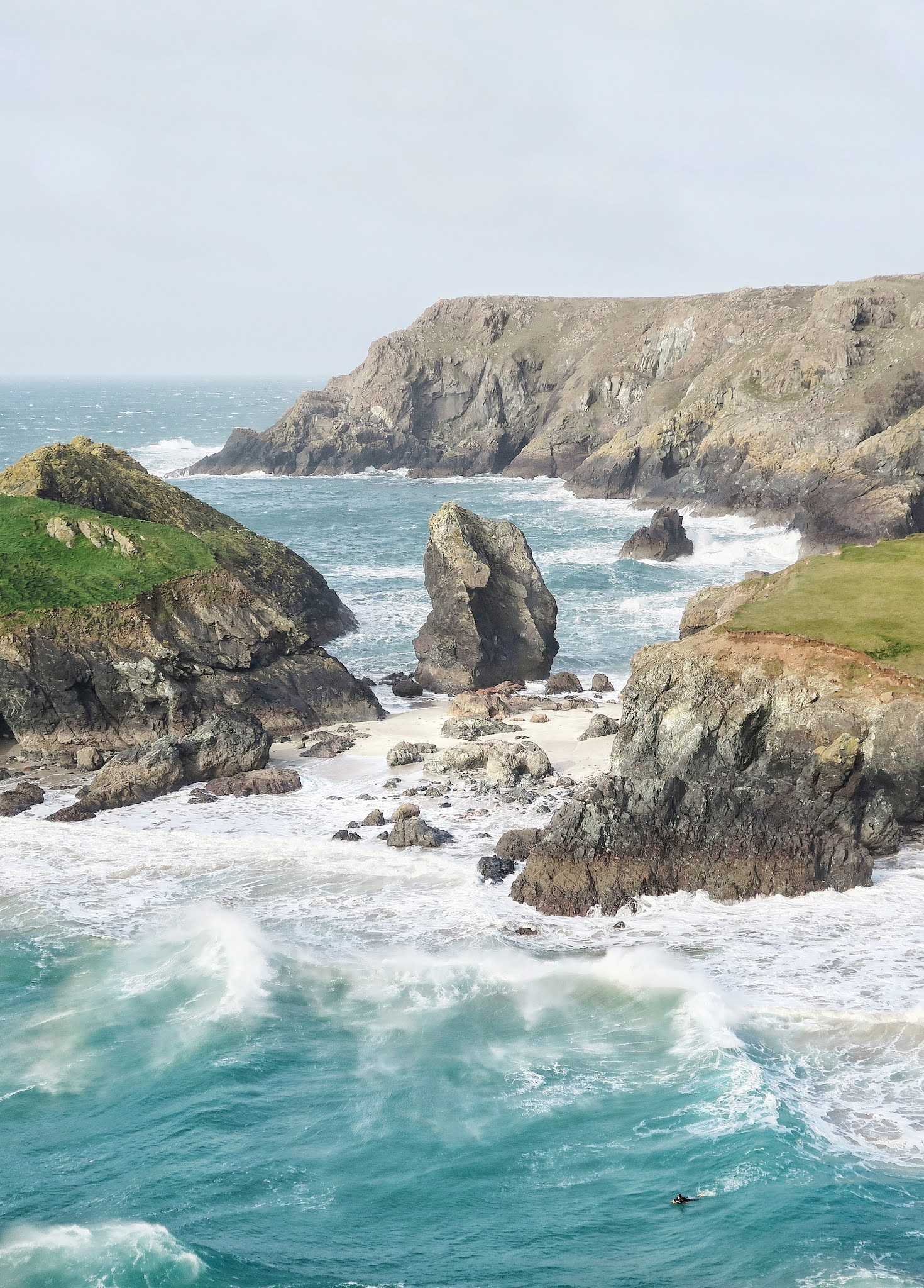 george hiles cornwall beaches and rough coastal line