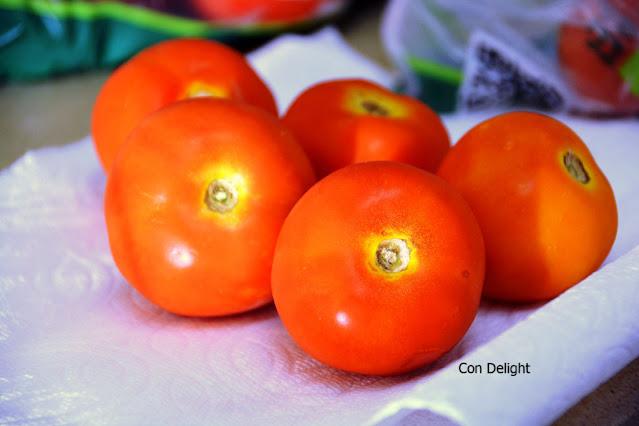 עגבניות לאחר שבוע שימוש בשקית הפלא