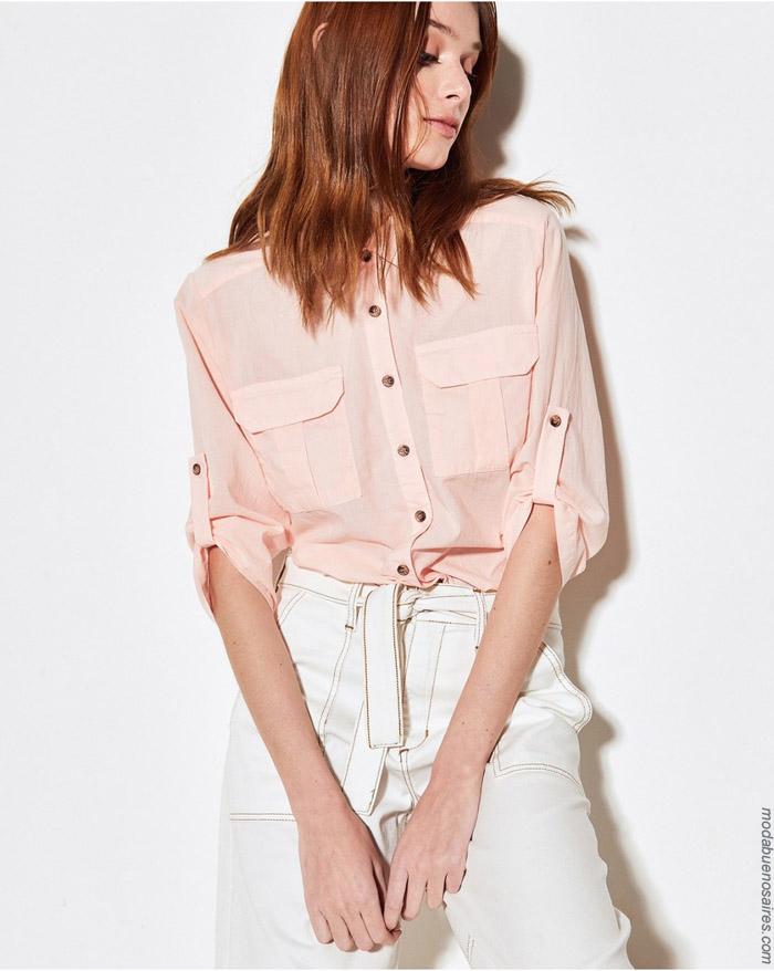 Camisas primavera verano 2020 mujer. Moda primavera verano 2020.