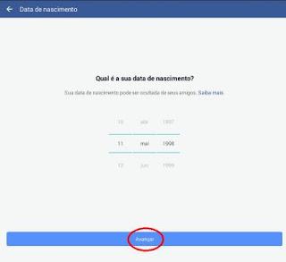 Precisa ser de maior para criar Facebook