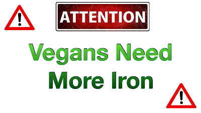 Attention! Vegans need more iron