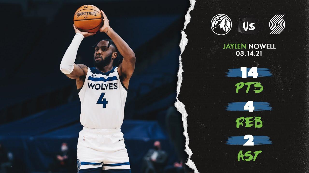 Jaylen Nowell 14pts vs POR   March 14, 2021   2020-21 NBA Season