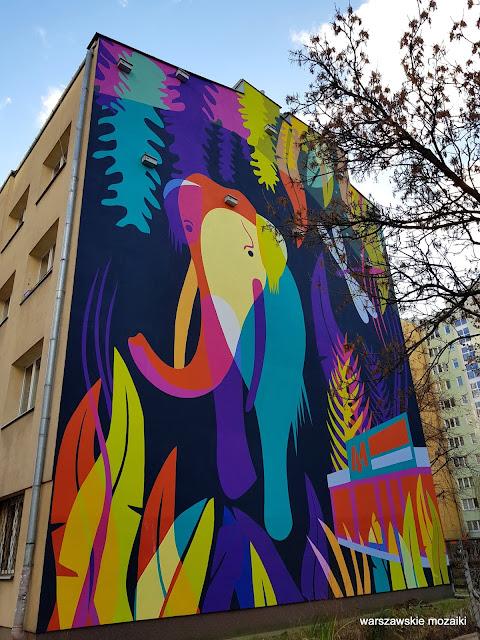 Warszawa Warsaw streetart murals Wola warszawskie murale słoń leśny