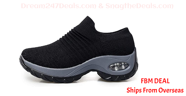 70%  off Lanbter Women Thick-Soled Sneakers Casual Breathable Soft Sneakers Shoes Running
