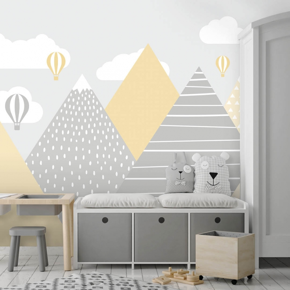 scnaid mountains wallpaper, Stylish & Modern Children's Room & Nursery Wallpaper & Wall Mural Ideas