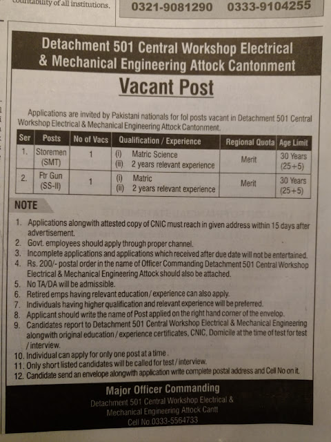 #Jobs - #Career_Opportunities  – apply within 15 days of publication this advertisement