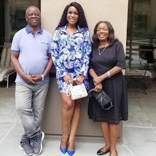 Linda Ikeji and her parent