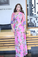Angela Krislinzki Rogue Movie Fame Telugu Actress in Saree Backless Choli 076.JPG