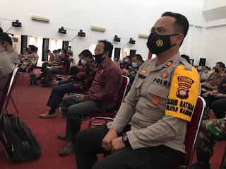 Kapolsek Mandor Hadiri Rapat Koordinasi PPKM