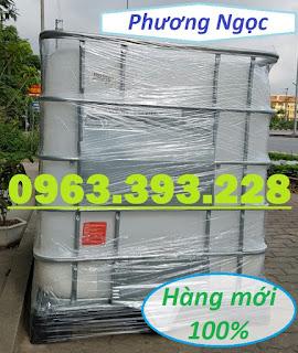 Tank nhựa IBC 1000L nhập khẩu, bồn nhựa 1 khối đựng hóa chất, bồn nhựa có khung  90ba203853f9b1a7e8e8
