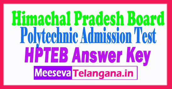 Himachal Pradesh Polytechnic Entrance Test PAT Answer Key 2018 Download