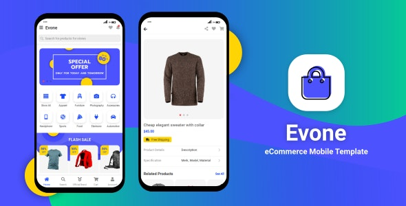 eCommerce Shop & Store Mobile Template