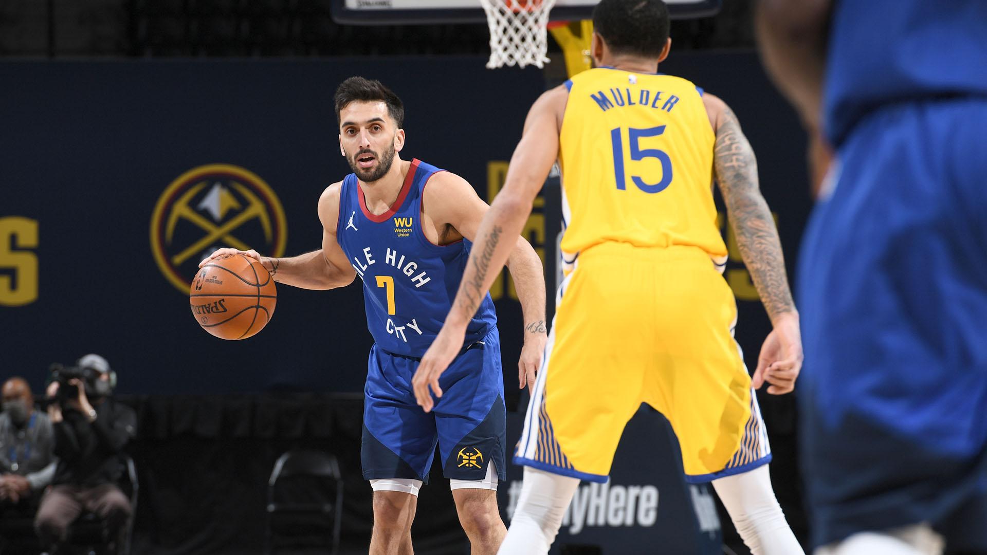 Con Campazzo, los Nuggets le ganaron a los Warriors de Curry
