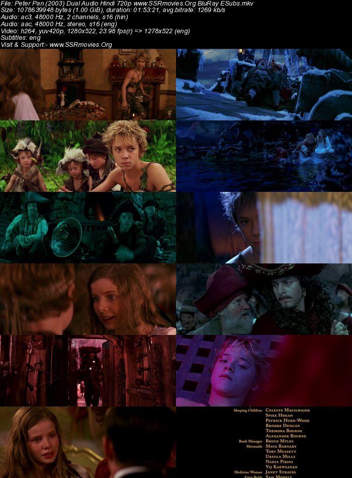 Peter Pan (2003) Dual Audio Hindi 720p BluRay