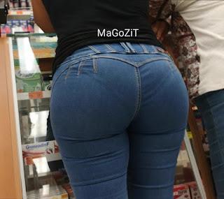Mujeres colas redondas pantalon apretado