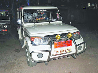 Pabitra Roy's SUV at the police station