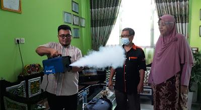 SMKN 2 Kota Bekasi Demo Mesin Fogging AG-800