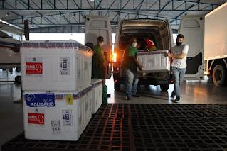 Bahia recebe mais 222.500 doses de vacinas contra Covid-19 Bahia recebe mais 222.500 doses de vacinas contra Covid-19