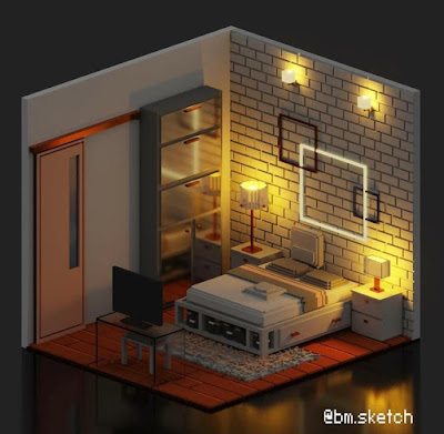 Voxel Bedroom
