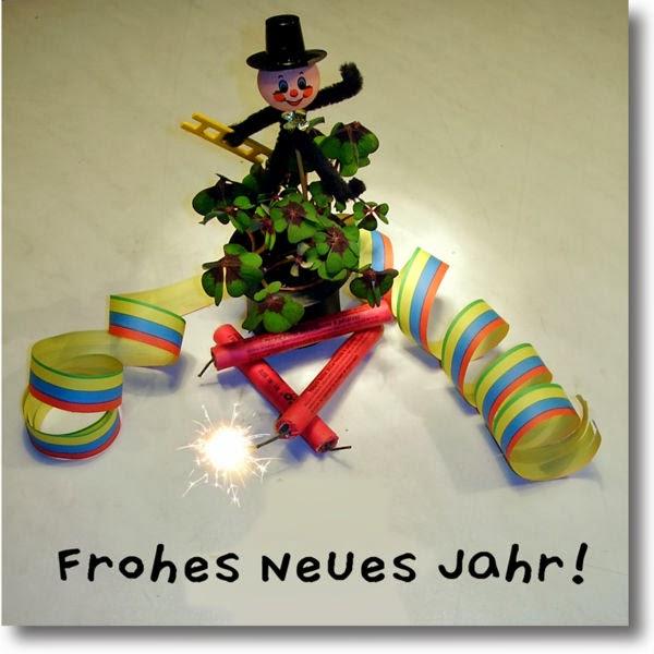 Almanca Yeni Yıl Kutlama Kartları, Frohes Neues Jahr,Deutsch