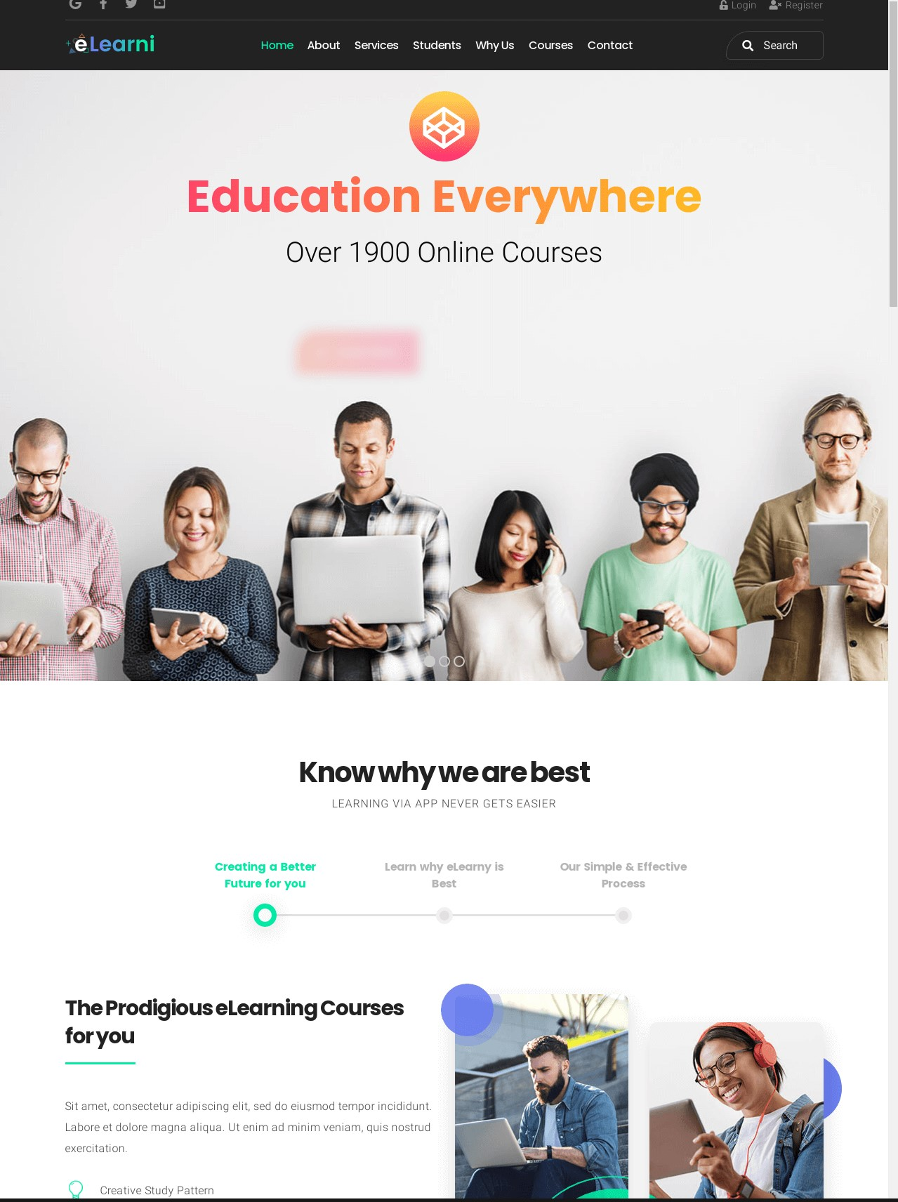 Online Learning And Education LMS  eLearni