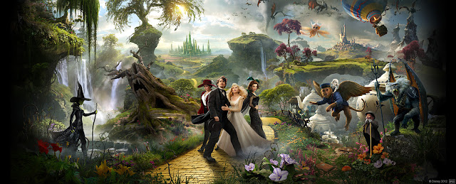 Oz the Great and Powerful (2013). Directed by Sam Raimi. Starring James Franco, Mila Kunis, Rachel Weisz and Michelle Williams