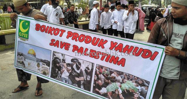 Sejumlah Masyarakat dan Ormas Menggelar Aksi Demo Bela Palestina di Alun-Alun Kota Tanjung Balai