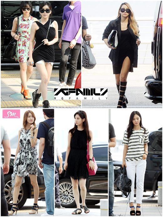 Yg Vs Sm The Obvious Difference Between Their Airport Fashion Daily K Pop News