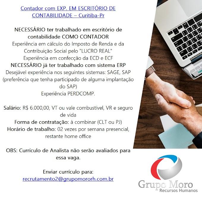 Contador (Escritório de CONTABILIDADE), Curitiba, PR