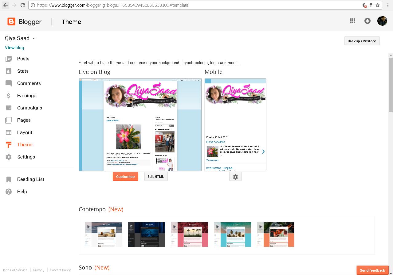 Cara tutorial tukar template blog | portal sumber ilmu online.