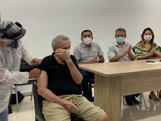 Em Campo Maior, idosos de 90 anos começam ser vacinados nesta quarta (10)