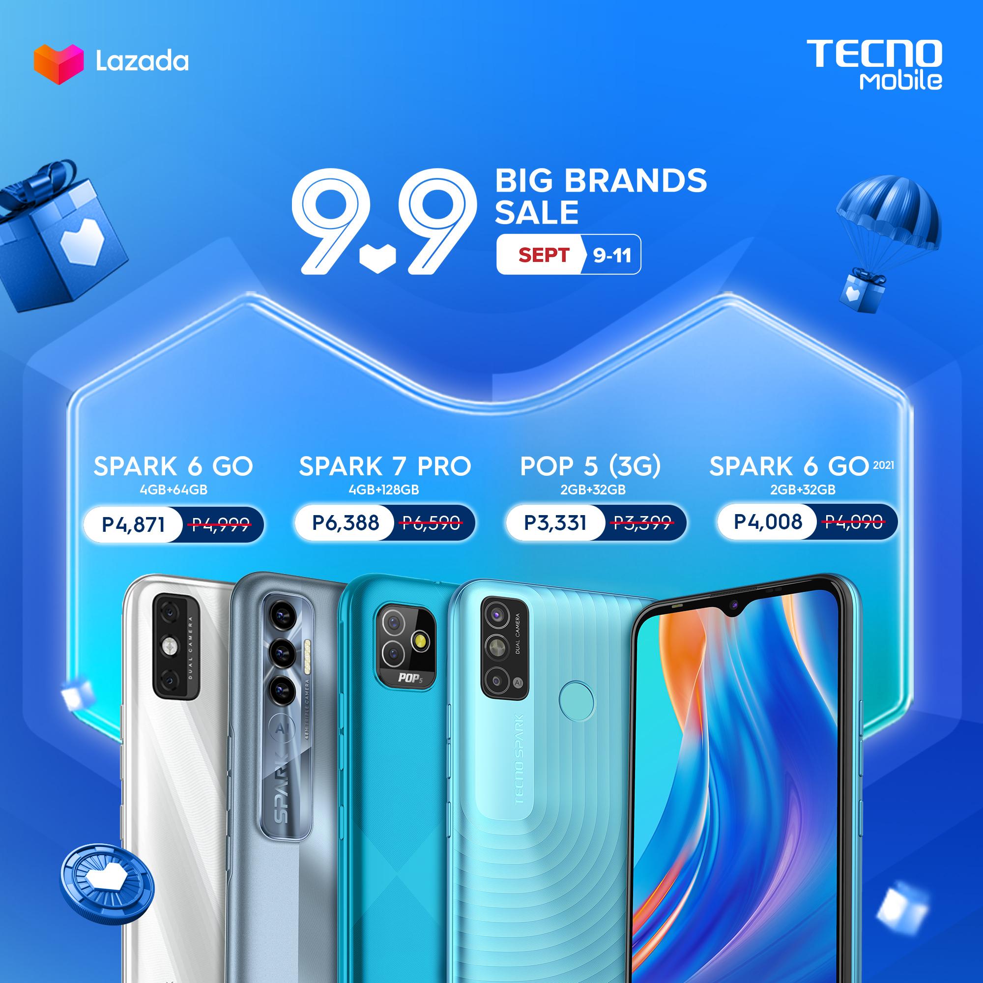 TECNO Mobile Lazada 9.9