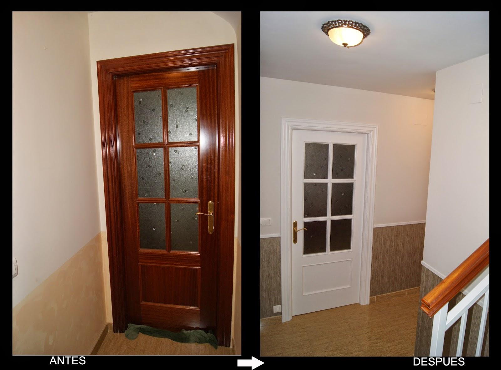 Lacar puertas en casa materiales de construcci n para la for Cambiar el color de las puertas