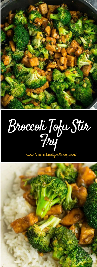 Broccoli Tofu Stir Fry #vegan #vegetarian