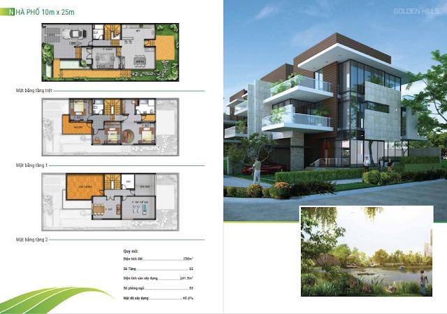 Mẫu thiết kế nhà phố 10x25m