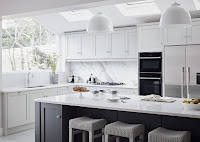 Delightful white countertops and lovely bar stools breakfast table for kitchen style ideas