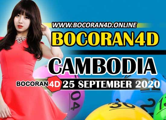 Bocoran 4D Cambodia 25 September 2020