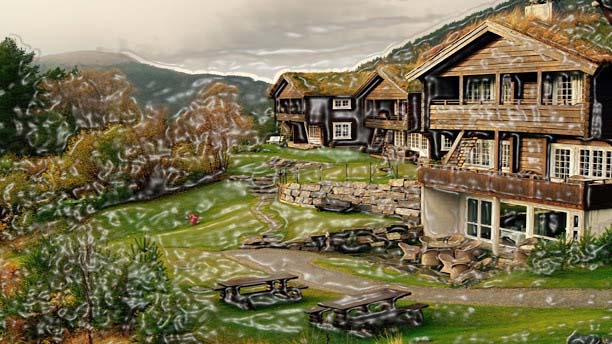 Storfjord hotel is constructed by a conventional method Lafta of constructing houses from beams of wood filled with wool of lamb. This combination makes the environment extremely comfortable, both from inside and outside. The interiors remain convenient and warm because of the floor heating system.