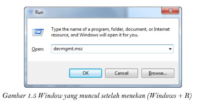 Gambar 1.5 Windows yang muncul setelah menekan (Windows + R)