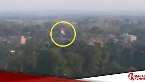 Dari Titik Tertinggi Desa Klambu, Bendera Merah Putih Milik Ponpes Al Maymun Paling Lantang Berkibar