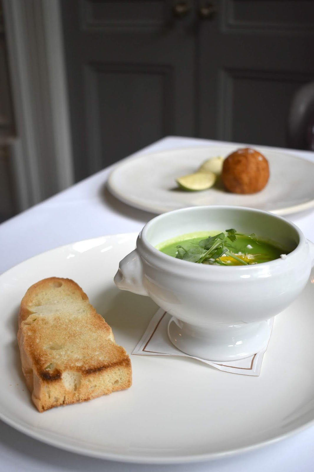 Lunch at Jesmond Dene House - Pea and Mint Soup