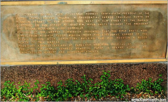 Placa Asesinato de Kennedy