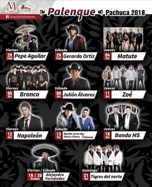 Comprar boletos Para el Palenque Feria de Pachuca 2018 baratos en preventa primera fila no agotados
