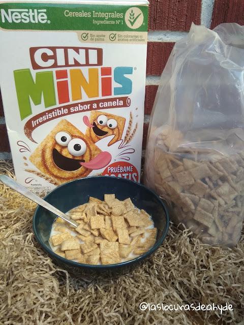 Cini Minis de Nestle, cereales integrales con sabor a canela