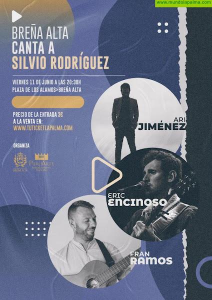 El proyecto cultural 'Puro Arte' trae al Parque de Los Álamos el concierto 'Breña Alta canta a Silvio Rodríguez'