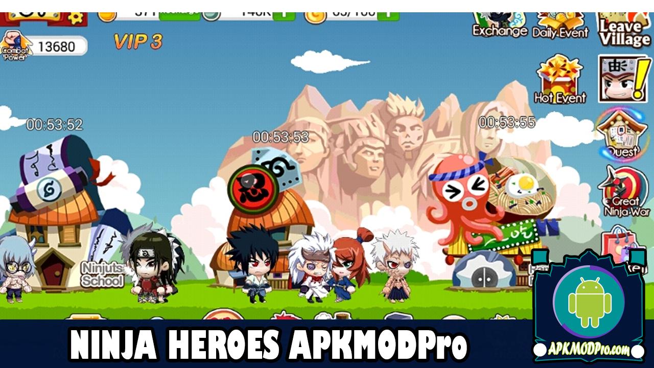 Download Ninja Heroes MOD APK v1.1.0 Untuk Android | Terbaru 2020