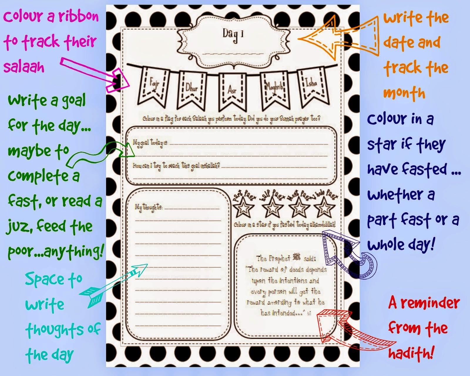 Iman S Home School Kids Ramadan Journal