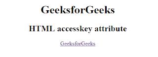 penggunaan atribut accesskey pada html