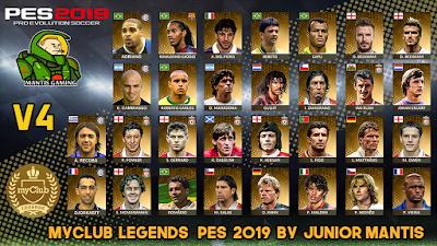 PES 2019 PS4 MyClub Legends Offline v4 by Junior Mantis